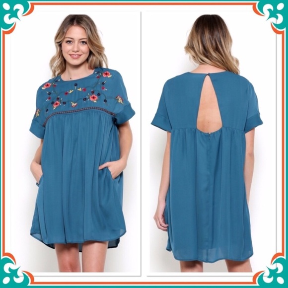 8fd3e4ef2f Esley Dresses   Babydoll Embroidered Boho Dress Only 2 S Left   Poshmark